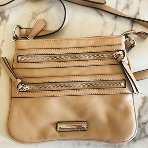 Nine West Taupe/Camel Crossbody Bag